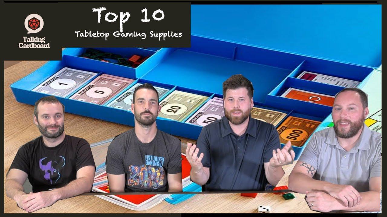 Top 10 Useful Gaming Supplies – with Talking Cardboard