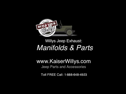 Willys Jeep Exhaust Manifolds  Parts - YouTube