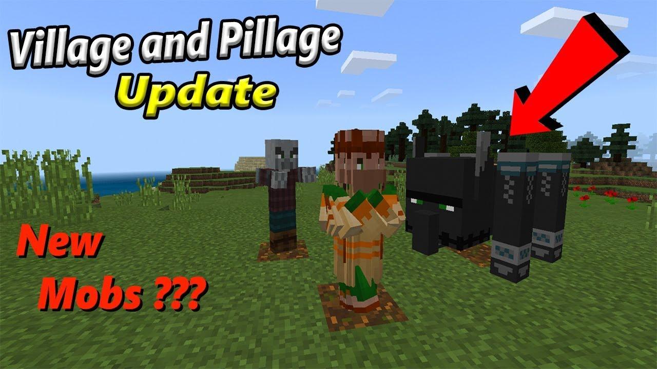 Village And Pillage Update In Minecraft Pe Youtube