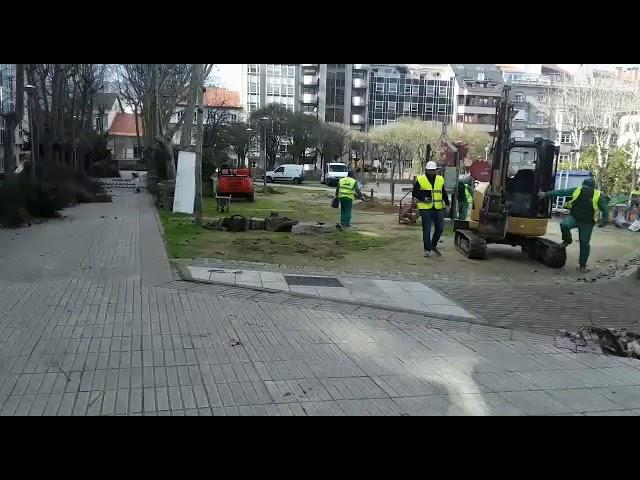 Las obras de la Alameda de Concejo, en marcha
