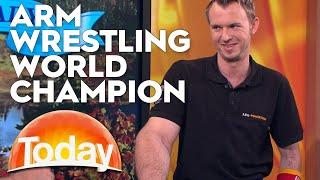 Karl vs Arm wrestler Matthias Schlitte | TODAY Show Australia