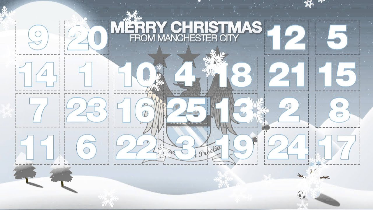the manchester city advent calendar 2012 youtube. Black Bedroom Furniture Sets. Home Design Ideas