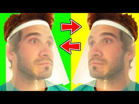 how-to-make-a-safety-diy-face-shield-visor-with-plastic-folder-|-protection-mask-at-home