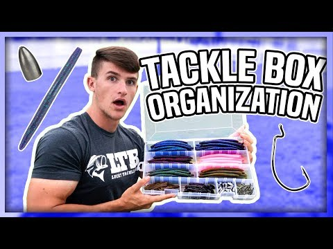My Secret TACKLE BOX Organization ! (Bass Pro Shops Baits)