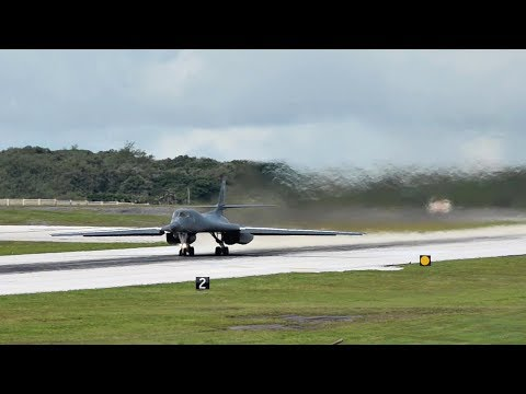 B-1B Bombers Conduct Air Drills With Japanese Fighters Near Senkaku Islands