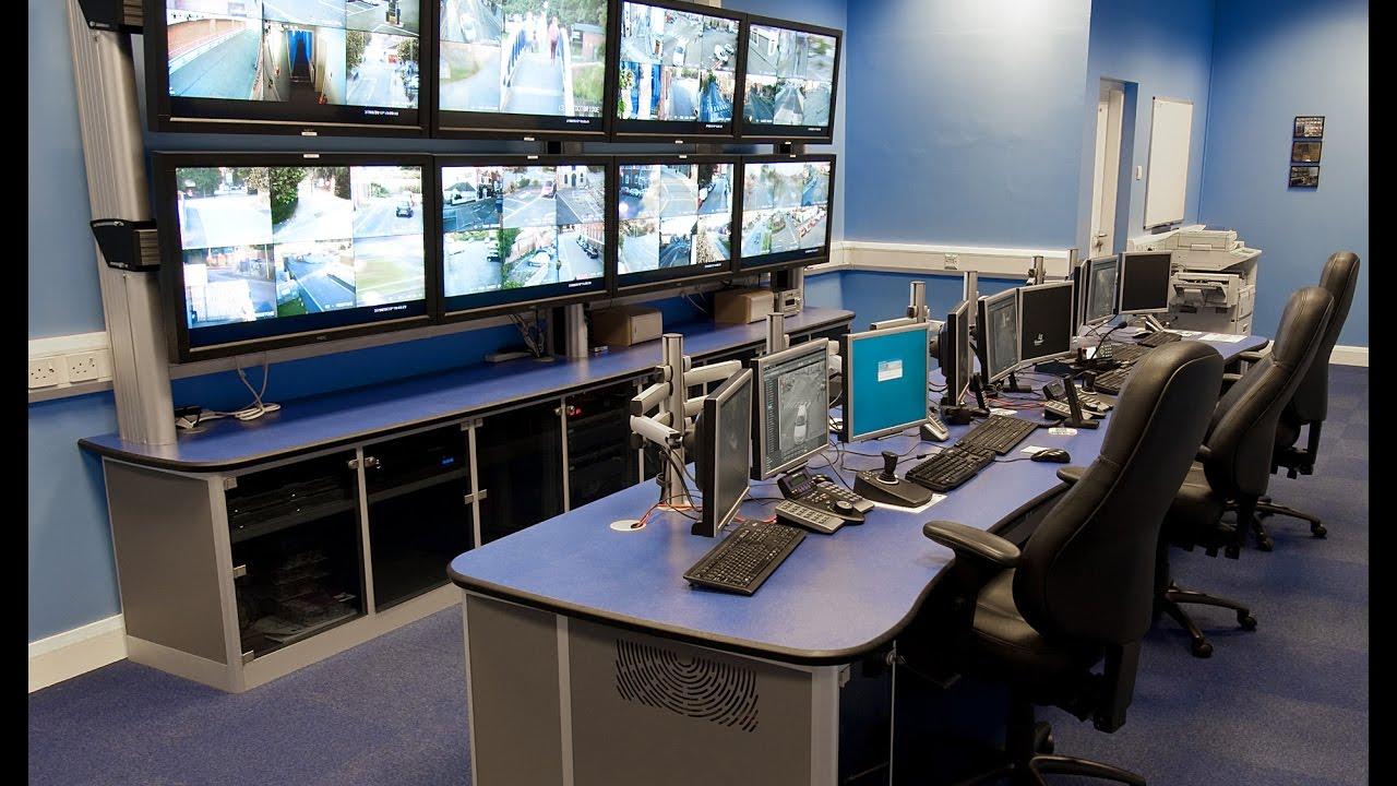 Pelco Cctv Control Room Industrial Integration It
