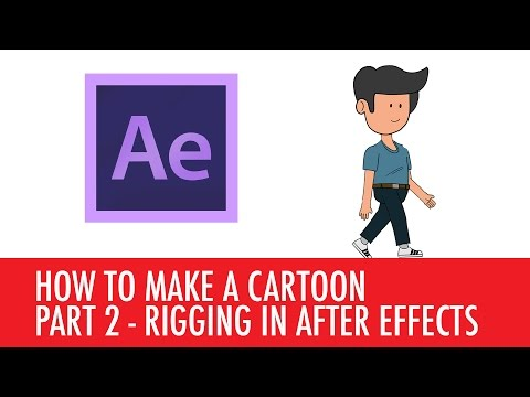 How to make a cartoon - rigging the character in After Effects - PART 2