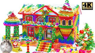 Build Gingerbread House For Hamster From Magnetic Balls (Asmr Satisfying) | Magnet World Handicraft