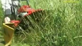 Pokaz pracy kosiarki bębnowej - kosiarka do wysokich traw Vari Adela BDR-595