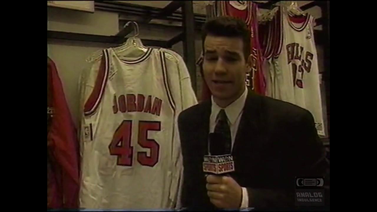 5856dae5d980eb Michael Jordan Number 45 Jersey Sales 1995 - YouTube