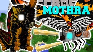 Minecraft: THE GREAT MOTHRA MOD (MOTHRA, BATTRA, RODAN, & MORE!) Mod Showcase