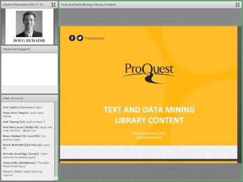 ACRL/Choice Webinars: Text and Data Mining Library Content