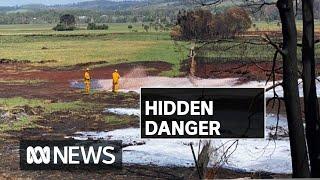Peat fire burning underground in Victoria poses hidden health threat | ABC News