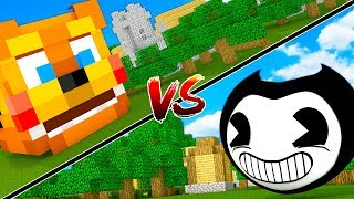 FNAF FREDDY HOUSE VS BENDY HOUSE - MINECRAFT