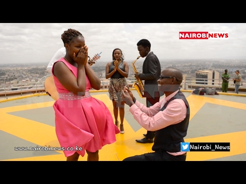 Nairobi man takes to the skyline for Valentine's Day proposal