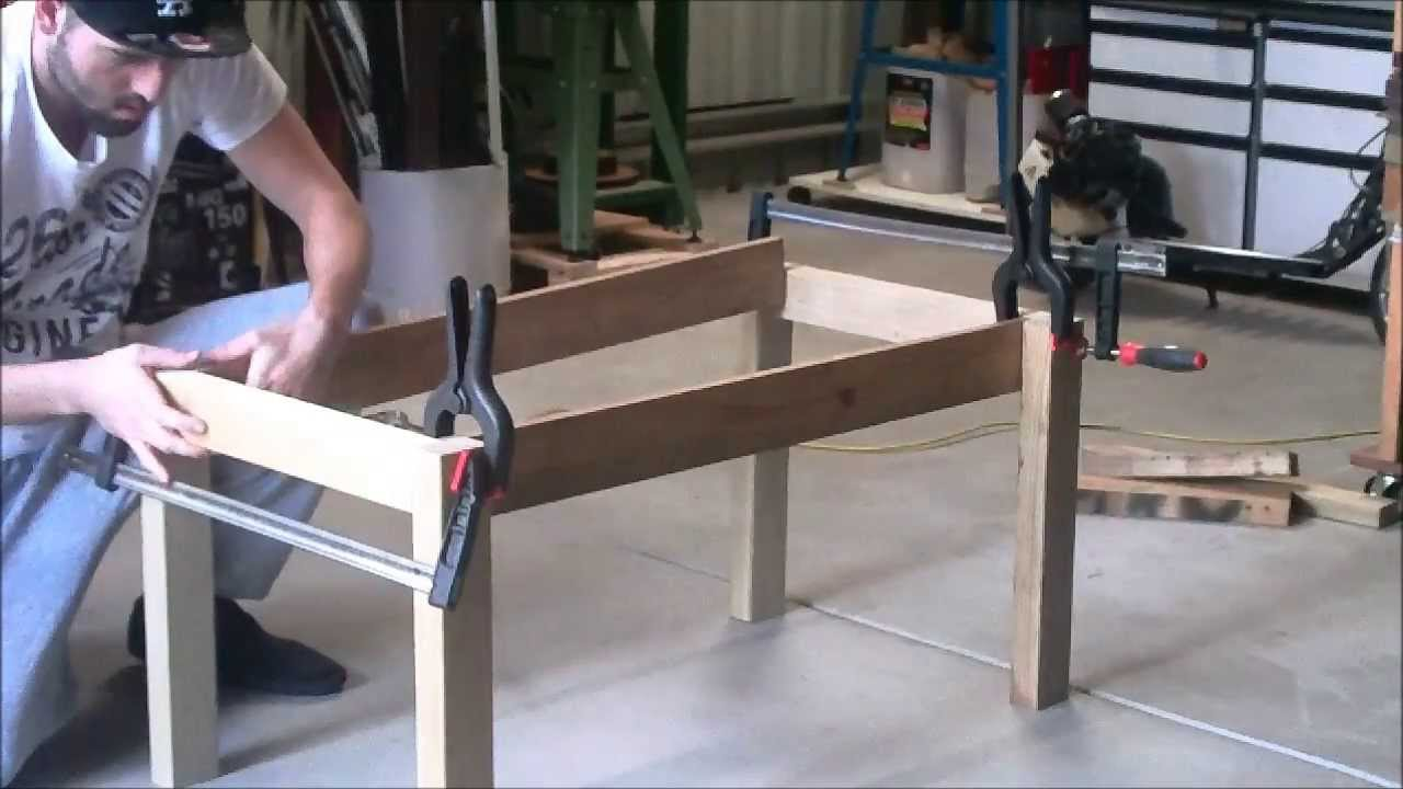 ... BUILD A COFFEE TABLE USING SCRAP WOOD PART 1 { LEGS} - YouTube