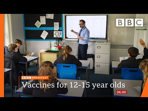 Covid jab rollout for 12 to 15-year-olds to start in schools in England @BBC News live 🔴 BBC