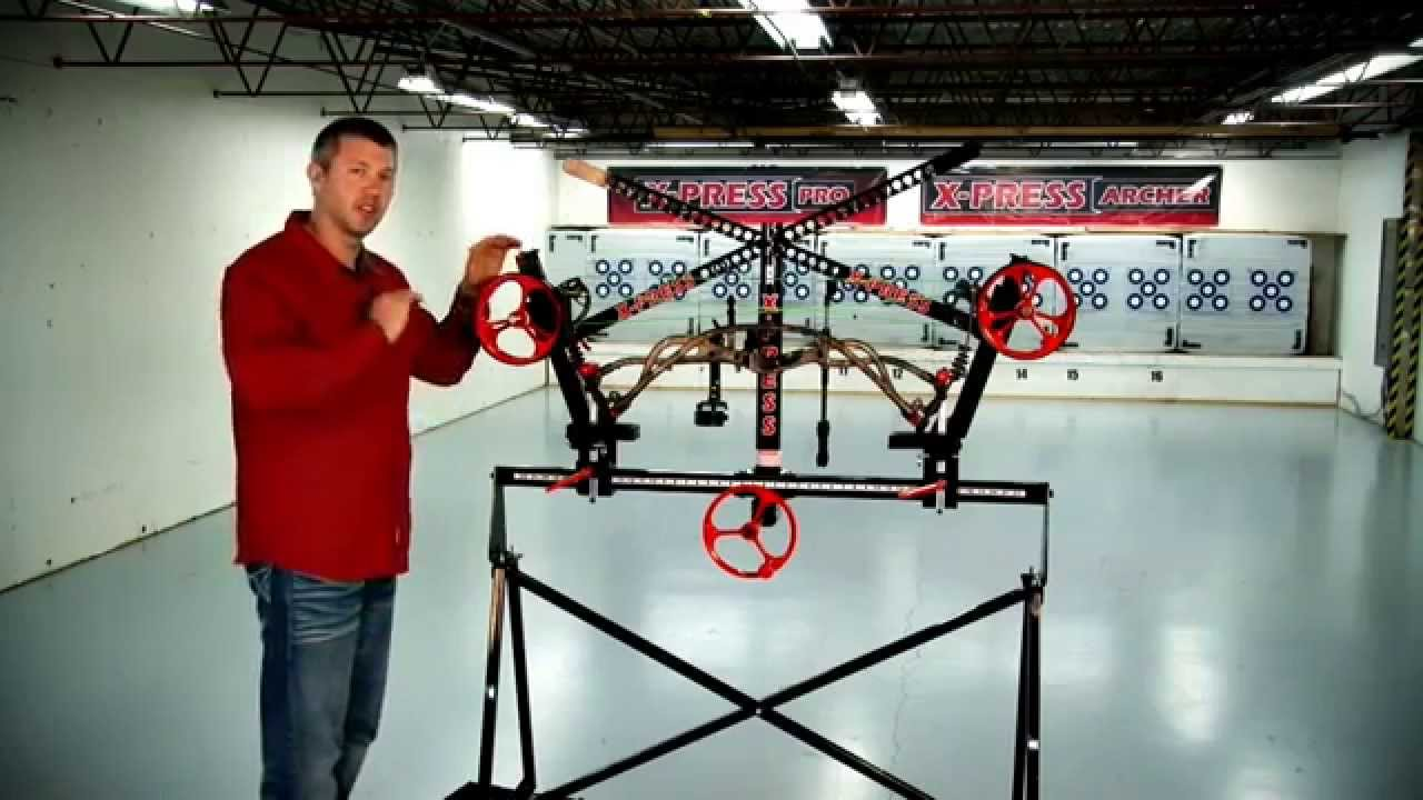 How to Press a Hoyt bow with the X-PRESS bow press