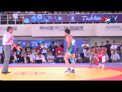 74 KG QF - Jordan Burroughs (USA) vs Rashid Kurbanov (UZB)