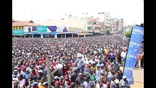 Eldoret town comes to a standstill as a mammoth crowd cheers on Kipchoge