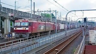 【EH500 金太郎】 EH500-9 牽引 貨物列車 3054レ 2019年7月24日 赤羽駅