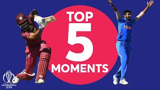 West Indies vs India - Top 5 Moments   ICC Cricket World Cup 2019