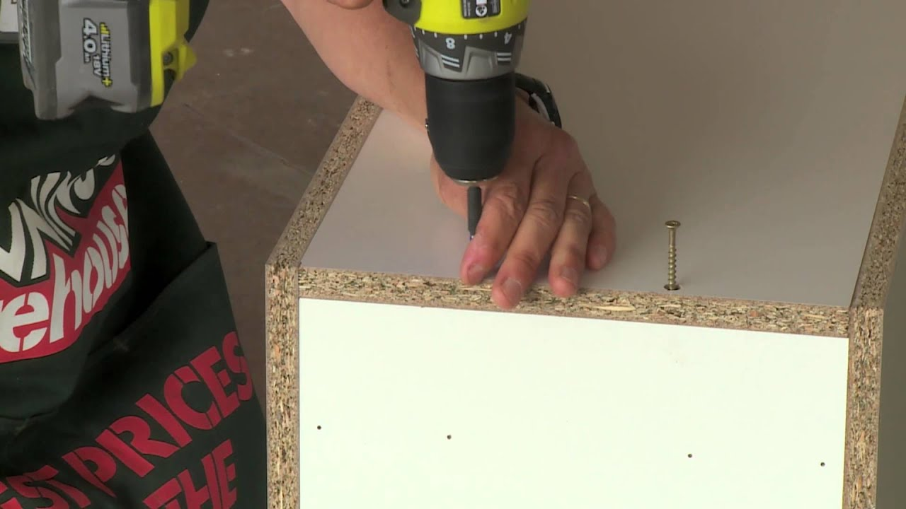 How To Assemble A Base Cabinet Diy At Bunnings