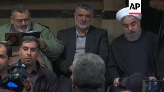 Mourners pay respects to former Iranian leader
