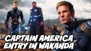 Captain America Entry in Wakanda and Thor in Avengers Infinity War