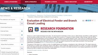 NFPA Fire Protection Research Foundation | Evaluation of Circuit Loading