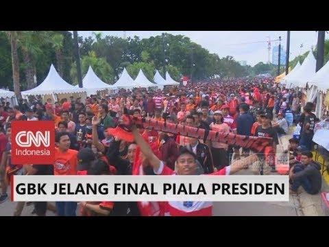 Gemuruh Suporter di GBK Jelang Final Piala Presiden; Persija Vs Bali United