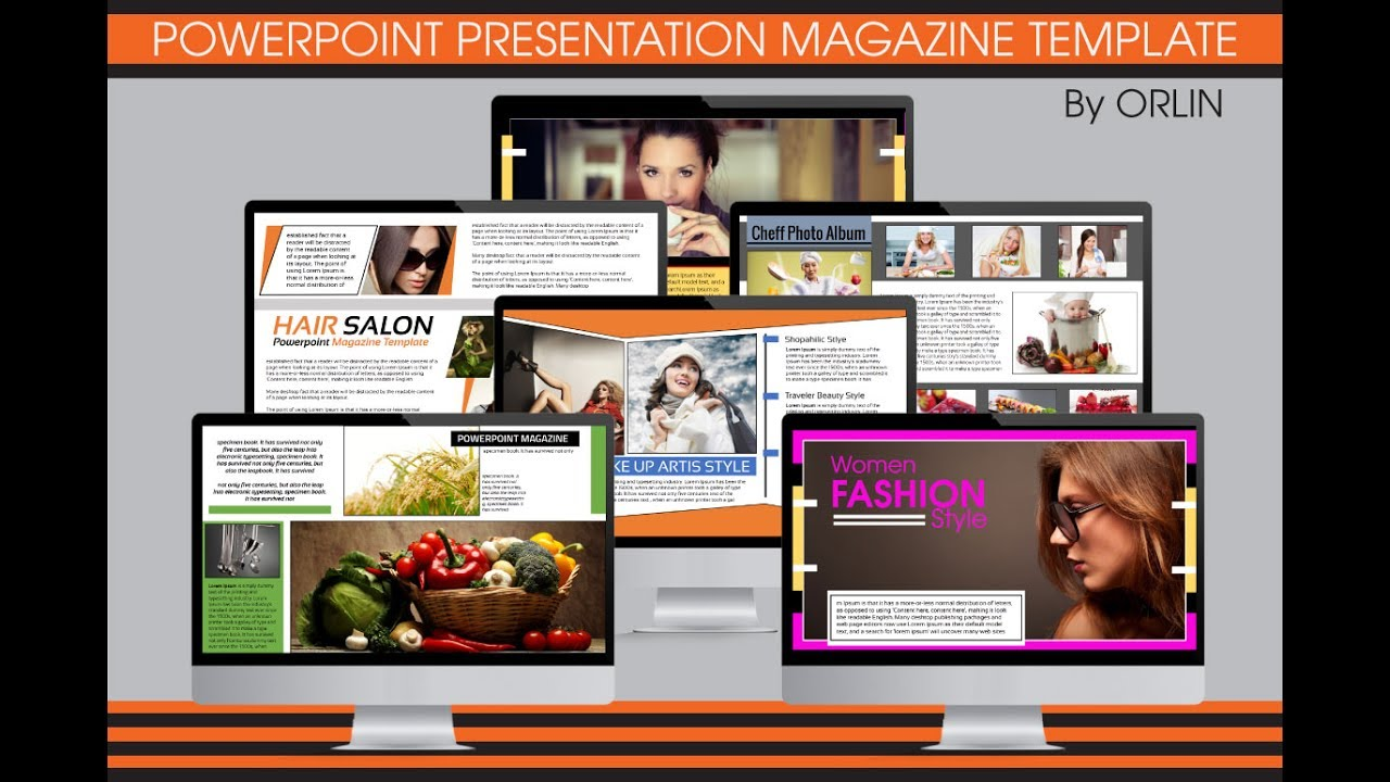 Multipurpose powerpoint magazine template youtube for E magazine templates free download