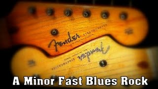 A Minor Fast Driving Blues Backing Track 126 Bpm