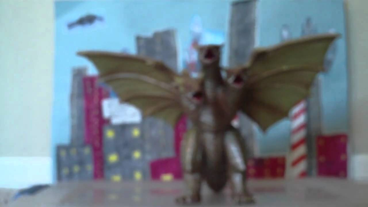 Download Bandai Toho Kaiju series Creatceous King Ghidorah toy review