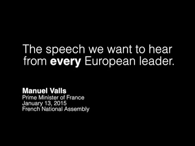 """French Prime Minister Manuel Valls on the """"intolerable rise of anti-Semitism in France."""""""
