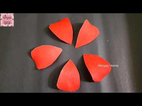 Hibiscus (shoe flower)from paper/ செம்பருத்தி பூ செய்வது எப்படி/craft