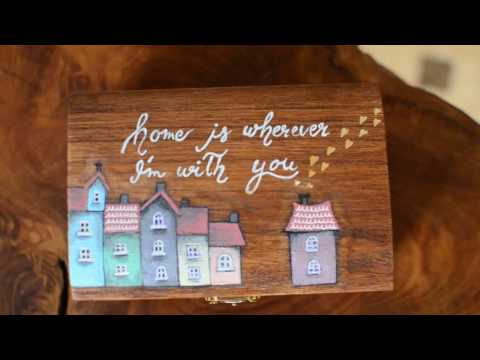 Art & Fun: How to Create Lettering and Illustration on a Wooden Box