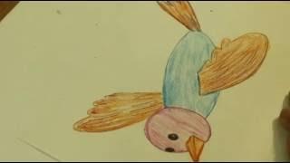 Рисуем быстро и просто.Как нарисовать птицу в полёте(Это видео уроки рисования карандашом для детей, с помощью которых можно нарисовать рисунок даже без навыко..., 2015-09-24T05:03:22.000Z)