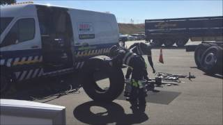 TrenTyre roadside assistance demonstration
