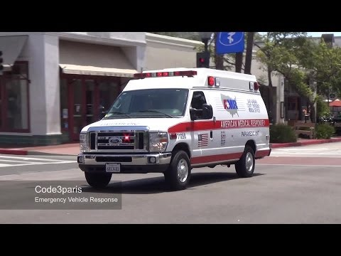 Santa Barbara Ambulance AMR Paramedic Unit