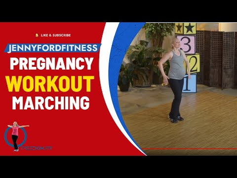 Pregnancy Marching Workout (40 minutes) At-Home Low-Impact