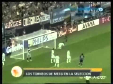 Goles de Messi en la Seleccion