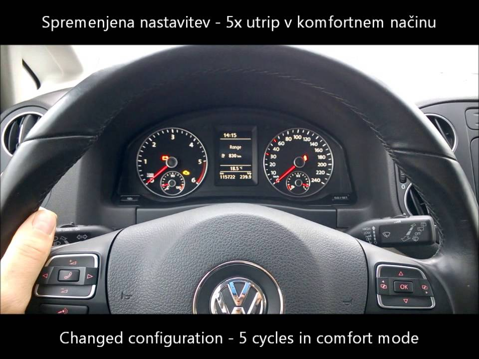 vw golf 6 plus my2012 comfort turn signal cycle number. Black Bedroom Furniture Sets. Home Design Ideas