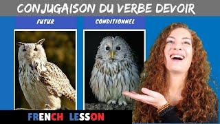 Conjugaison Du Verbe Devoir How To Conjugate The Verb Devoir In French Youtube