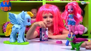 My Little Pony. Распаковка и обзор куклы Пинки Пай от Ярославы. Doll Pinkie Pie Equestria Girls