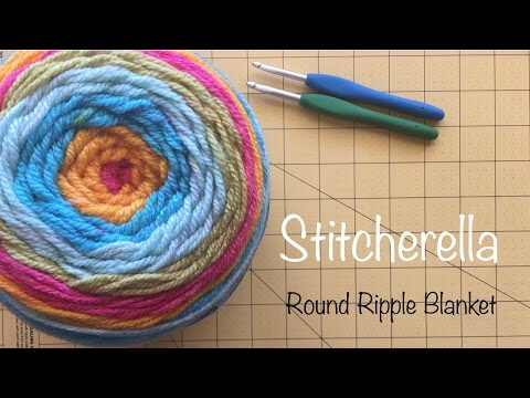 How To Crochet The Beginners Round Ripple 12 Point Blanket