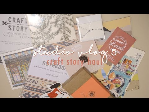 Studio Vlog 5 | Craft Story Cebu Haul | New Concrete Pieces Collection