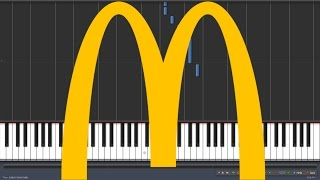 I'm Loving it - McDonalds [Piano Tutorial] (Synthesia) Resimi