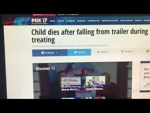 Another 8 Year Old Boy On Holloween Became The Latest Road