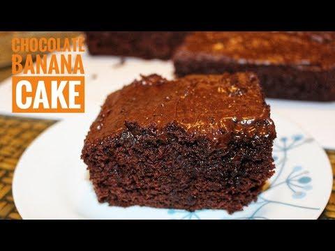 Chocolate Banana Cake Recipe-Chocolate Cake With Banana- Easy Chocolate Cake Recipe-Cake Recipes
